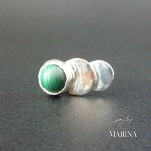 ZEBRA - ring malachite resortiara