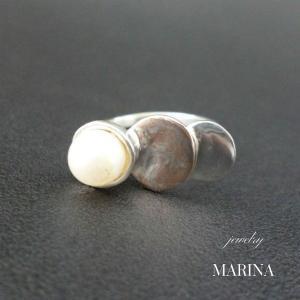 ZEBRA - ring pearl #3 resortiara