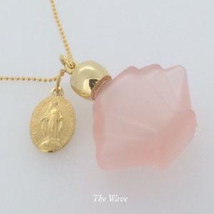 フランスアンティークメダイと香水瓶のネックレス -Pink-|resortiara