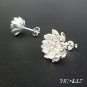 Lotus 蓮の花のピアス - stud silver -|resortiara