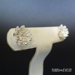 Lotus 蓮の花のピアス - stud silver -|resortiara|06