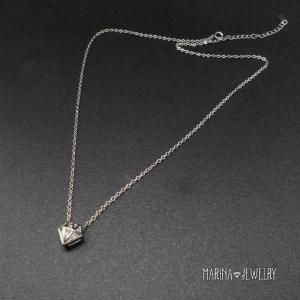 ダイアモンドシェイプのネックレス - silver -|resortiara