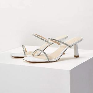 MOTF 靴 サンダル 白 ヒール 高7cm|resortiara