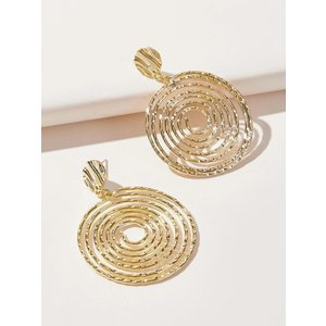 Gold disk earrings ピアス|resortiara