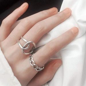フリーサイズ リング 2個セット 22号 メンズ カッコいい! 指輪|resortiara