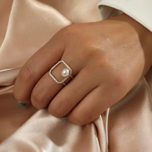 Square Pearl - フリーサイズリング 選べる3色|resortiara