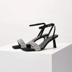 MOTF 靴 サンダル 黒 ヒール 高7cm|resortiara