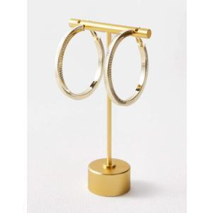 Gold Circle Earrings ピアス|resortiara