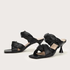 MOTF 靴 サンダル 黒 ヒール 高7.5cm|resortiara