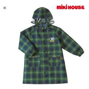 ミキハウス正規販売店/ミキハウス mikihouse ボーイズ☆チェック柄レインコート〈M-LL(100cm-130cm)〉 respect-1