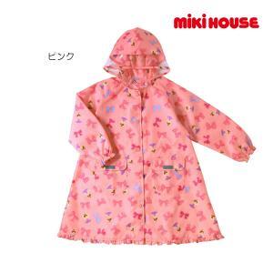 ミキハウス正規販売店/ミキハウス mikihouse リボンいっぱい♪リーナちゃんレインコート〈M-LL(100cm-130cm)〉 respect-1