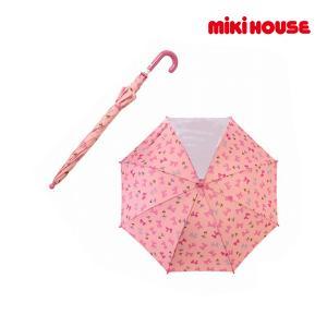 ミキハウス正規販売店/ミキハウス mikihouse リボンいっぱい♪リーナちゃんプリント傘(50cm) respect-1