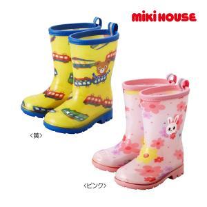 ミキハウス正規販売店/ミキハウス mikihouse プッチー&うさこ☆レインブーツ(長靴)(13cm-17cm) respect-1