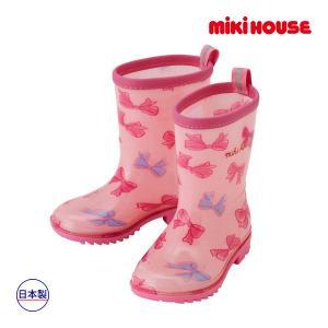 ミキハウス正規販売店/ミキハウス mikihouse リボンいっぱい♪リーナちゃんレインブーツ(長靴)(15cm-21cm) respect-1