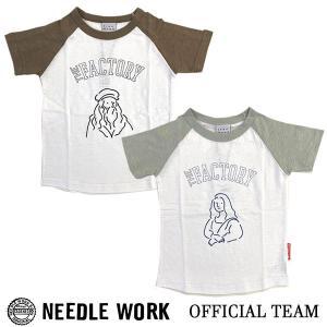ニードルワーク(NEEDL WORK)OFFICIAL TEAM Tシャツ THE FACTORY RAGLAN(120cm・130cm・140cm)|respect-1