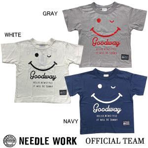 ニードルワーク(NEEDL WORK)OFFICIAL TEAM Tシャツ SMIL WIDE T(120cm・130cm・140cm)|respect-1