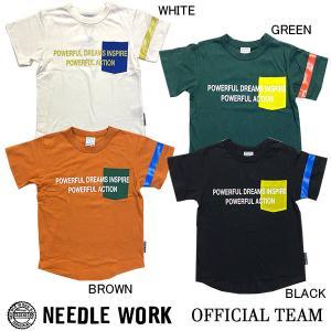 ニードルワーク(NEEDL WORK)OFFICIAL TEAM Tシャツ POCKET LOGO T(120cm・130cm・140cm)|respect-1