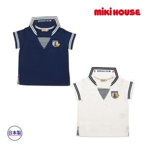 ミキハウス正規販売店/ミキハウス mikihouse セーラーカラー☆プッチー半袖Tシャツ(120cm)|respect-1