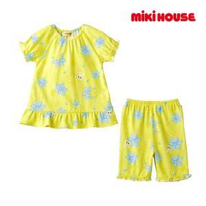 ミキハウス mikihouse お花プリント♪うさこ半袖パジャマ(6分丈パンツ)(80cm-130cm)|respect-1