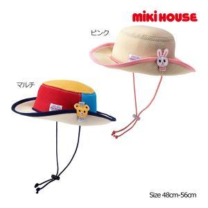 ミキハウス正規販売店/ミキハウス mikihouse 日よけ付き ダブルラッセルテンガロンハット(帽子)(48cm-56cm)|respect-1