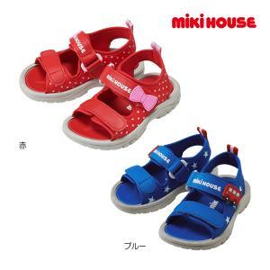 ミキハウス正規販売店/ミキハウス mikihouse ジャージ素材のキッズサンダル(14cm-19cm)/サマーシューズ|respect-1