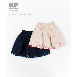 ニットプランナー Knit Planner ポピー柄リバーシブルスカート(100cm・110cm・120cm・130cm)|respect-1