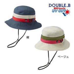 ミキハウス正規販売店/ミキハウス ダブルビー mikihouse 日よけ付きサファリハット(帽子)〈S-LL(48cm-56cm)〉 respect-1