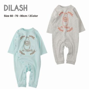DIL正規販売店/ディラッシュ DILASH ミルクプリントカバーオール(60cm・70cm・80cm)|respect-1