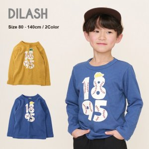 DIL正規販売店/ディラッシュ DILASH ベースボールプリント長袖Tシャツ(80cm・90cm・100cm・110cm・120cm・130cm・140cm・150cm)|respect-1
