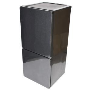 2ドア冷蔵庫 2017年製 ブラック ユーイング 中古 送料無料