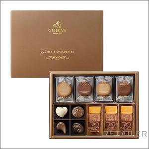 ♪GODIVA ゴディバ クッキー&チョコアソート 8枚+13粒 <お菓子・チョコレート・クッキー><バレンタインデー・ホワイトデーのお返しに>