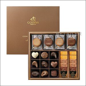♪GODIVA ゴディバ クッキー&チョコアソート 8枚+21粒 <お菓子・チョコレート・クッキー><バレンタインデー・ホワイトデーのお返しに>