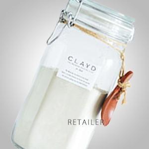 ♪ マザーアースソリューション  クレイドフォーバス キャニスターセット 1kg×1袋 <入浴剤><専用ボトル付><CLAYD JAPAN・クレイドジャパン>