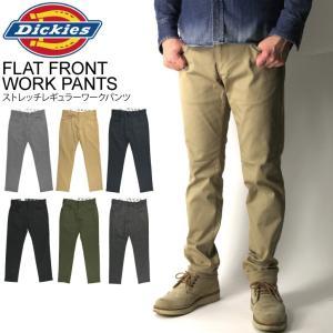(ディッキーズ) Dickies FLAT FRONT WORK PANTS ストレッチ レギュラー...