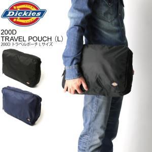 (ディッキーズ) Dickies 200D トラベル ポーチ Lサイズ 旅行用ポーチ メンズ レディース retom