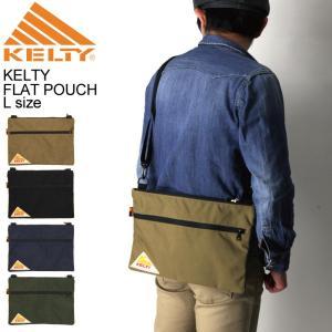 (ケルティ) KELTY ヴィンテージ ライン フラットポーチ Lサイズ ショルダーバッグ サコッシュバッグ|retom