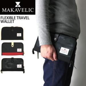 (マキャベリック) MAKAVELIC フレキシブル トラベル ワレット ウォレット カードケース 財布 パスポートケース|retom