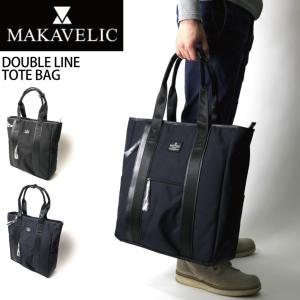 (マキャベリック) MAKAVELIC ダブルライン トートバッグ ショルダーバッグ|retom