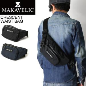 (マキャベリック) MAKAVELIC TRUCKS CRESCENT WAIST BAG トラックス クレッセント ウエストバッグ ボディバッグ メンズ|retom