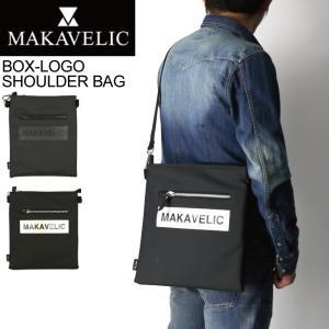 (マキャベリック) MAKAVELIC LUDUS BOX-LOGO SHOULDER BAG ルーダス ボックス ロゴ ショルダーバッグ サコッシュ メンズ|retom