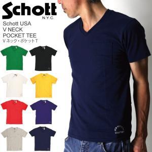 (ショット) Schott Vネック・ポケットTシャツ|retom
