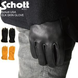(ショット) Schott エルクスキン グローブ レザー 手袋|retom
