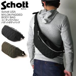 (ショット) Schott コーデュラナイロン パデット ボディ バッグ ショルダーバッグ|retom