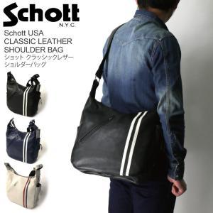 (ショット) Schott クラッシック レザー ショルダーバッグ ボディバッグ|retom