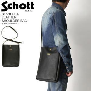 10%OFF!! (ショット) Schott 牛革 ショルダー バッグ レザー バッグ メンズ レディース|retom