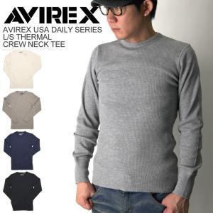 (アビレックス) AVIREX ロングスリーブ サーマル クルーネック Tシャツ メンズ retom