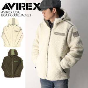 (アビレックス) AVIREX アヴィレックス ボア フード ジャケット フリースジャケット パーカージャケット メンズ レディース retom