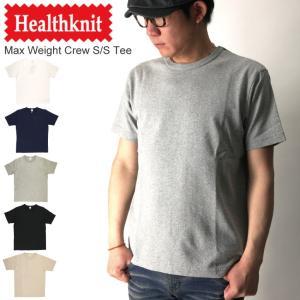 (ヘルスニット) Healthknit マックスウエイト クルーネック Tシャツ ヘビーウエイト カットソー 無地|retom