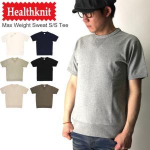 (ヘルスニット) Healthknit マックスウエイト クルーネック スウェット Tシャツ ヘビーウエイト カットソー 無地|retom