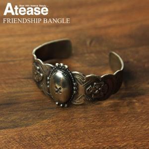 送料無料 Atease(アティース) シルバー925 バングル ブレスレット メンズ レディース|retom